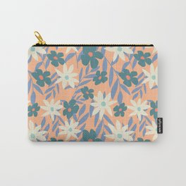 Just Peachy Floral Carry-All Pouch