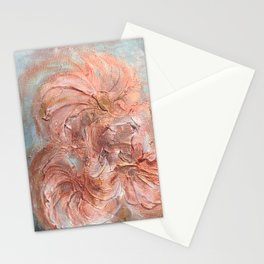 Abstract Rose Gold Flower Art Stationery Cards