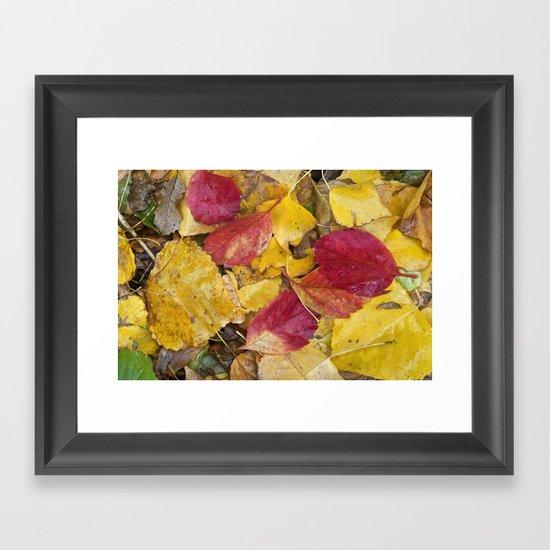 """""""Rain leaves"""" Framed Art Print"""