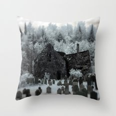 Abandoned Lot  Throw Pillow