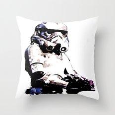 Paper Trooper Throw Pillow