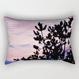 Pine Trees and Surf Clouds Rectangular Pillow