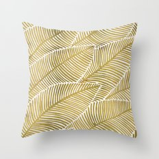 Tropical Gold Throw Pillow