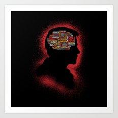 Castiel's Phrenology Art Print