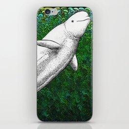 Beautiful beluga whale in the ocean iPhone Skin
