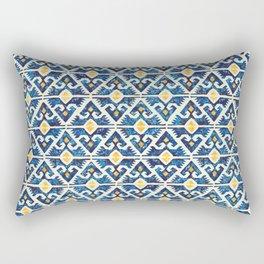 Thunderbird Kilim Watercolor Rectangular Pillow