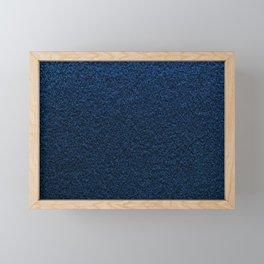 Dark Blue Fleecy Material Texture Framed Mini Art Print