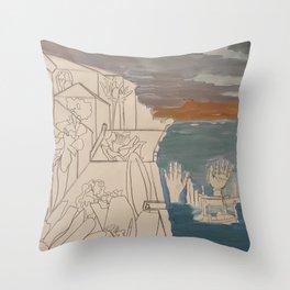 men at sea Throw Pillow
