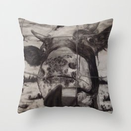 Say Cheese: Cow Throw Pillow