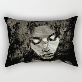 Melancholy and the Infinite Sadness Black and White Rectangular Pillow