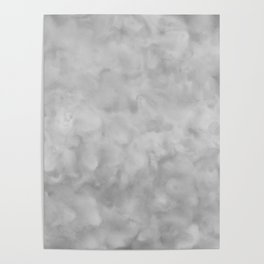 Soft Gray Clouds Texture Poster