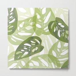 Light green leaves Metal Print