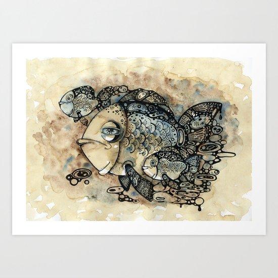 Arrogant Fish Art Print