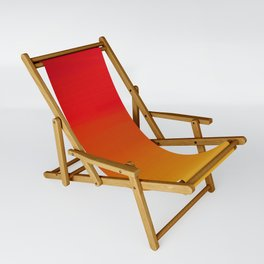 Red Apple and Golden Honey Ombre Sunset Sling Chair