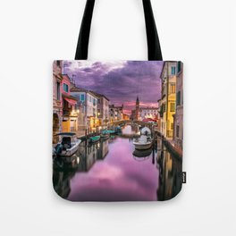 Venice Italy Canal at Sunset Photograph Tote Bag