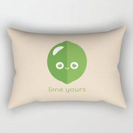 Lime Yours Rectangular Pillow