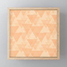 Gentle light sand triangles in the intersection and overlay. Framed Mini Art Print