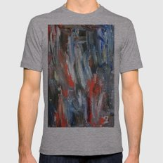 Untitled Abstract #6 SMALL Tri-Grey Mens Fitted Tee