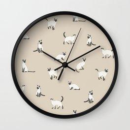 Siamese Kitties Wall Clock