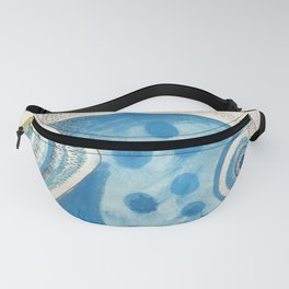 Blue fish Fanny Pack