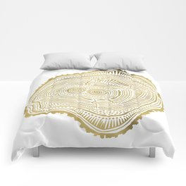 Peachleaf Willow – Gold Tree Rings Comforters