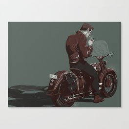 Dean on a bike Canvas Print