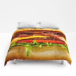 a burger a day Comforters