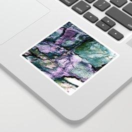 Textured Minerals Teal Green Purple Sticker