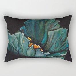 Remembrance - Blue Poppy Himalayan Flower Rectangular Pillow