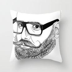 bear'n'roll Throw Pillow