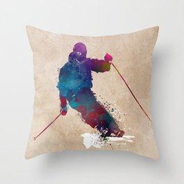 alpine skiing #ski #skiing #sport Throw Pillow