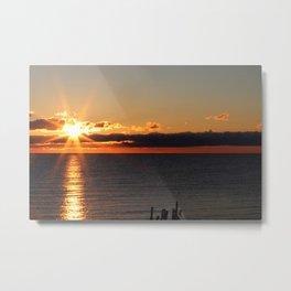 Michigan Sunrise Metal Print