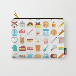 CUTE BAKERY PATTERN (CUTE CHEF BAKER) Carry-All Pouch
