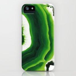 Green Agate Geode slice iPhone Case