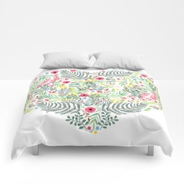 Nature Love heart Comforters