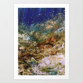 peninsula blue, monterey Art Print