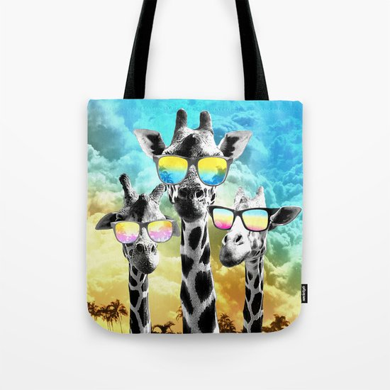 Crazy Cool Giraffe Tote Bag
