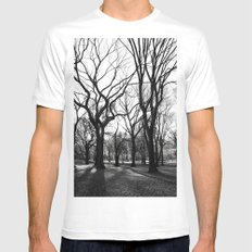 Central Park - New York Mens Fitted Tee White MEDIUM