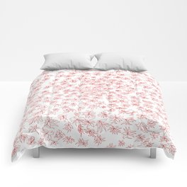 floral, red on white Comforters