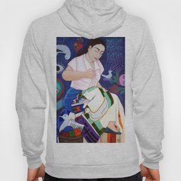 Violeta Parra embroidering life Hoody