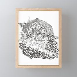 diminishing territory Framed Mini Art Print