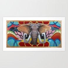 Elephant in the Room Art Print