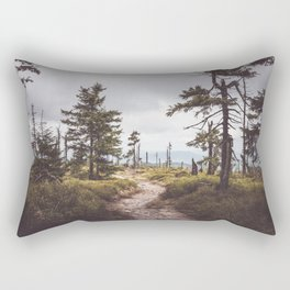 Over the mountains and through the woods Rectangular Pillow