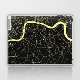 London Black on Yellow Street Map Laptop & iPad Skin