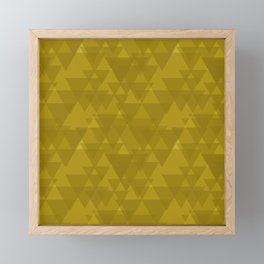 Gentle mustard triangles in the intersection and overlay. Framed Mini Art Print