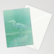 Blue Heron - collage Stationery Cards