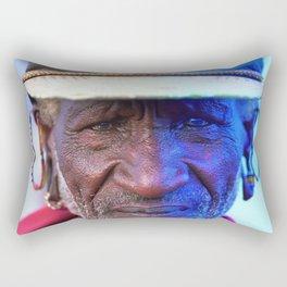 African Chief: Samburu Elder Rectangular Pillow