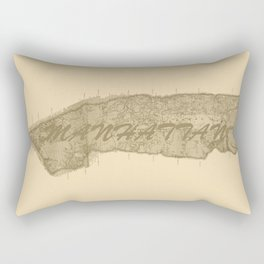 Vintage Manhattan Gold Rectangular Pillow