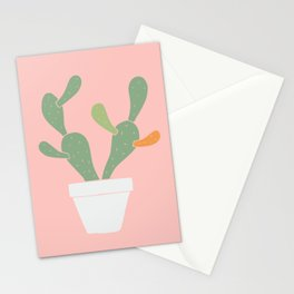 cactus plant in pink Stationery Cards