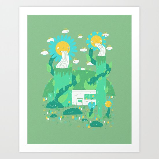 Flower power plant Art Print